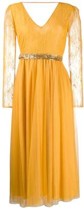 Patrizia Pepe lace sleeve dress