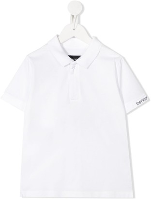 Emporio Armani Kids Logo Embroidered Shortsleeved Polo Shirt