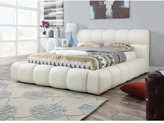 Acme Acacia Ivory PU Queen Bed