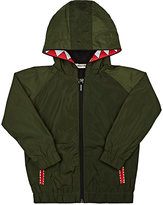 Munster TOOTH-TRIMMED TECH-FABRIC HOODED JACKET