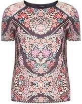 Oriental Print Pom-Pom Trim T-Shirt