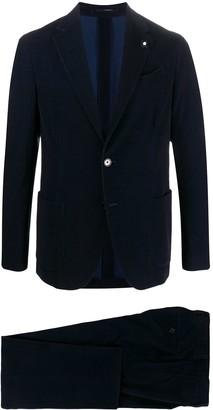 Lardini Textured Single-Breasted Suit