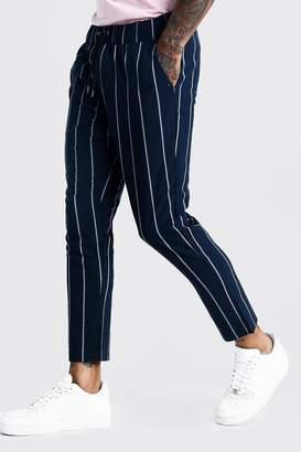 boohoo Wide Set Stripe Smart Cropped Jogger Trouser