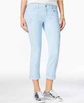 Dollhouse Juniors' Colored Wash Cropped Skinny Jeans
