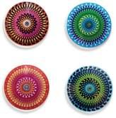 Kikkerland Design Color Moire Coasters (Set of 4)