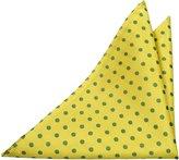 Notch Men's Silk Pocket Square - FERNANDO - base with green dots
