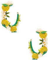 Mercedes Salazar Limones Y Flores Earrings in Yellow.