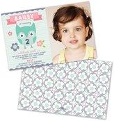 BellaBug Owl Personalized Children's Birthday Invitations (Set of 10)