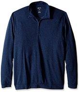Haggar Men's Big-Tall Twill Knit Quarter Zip Sweater