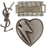 Saint Laurent Set Of Three Logo Pins