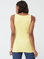 Very The Essential Tall Basic Rib Vest - Lime