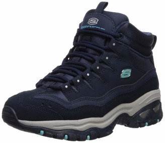 Skechers Women's Energy-Cool Rider-Suede Overlay Wavy Lace-Up Boot Chukka