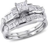 Ice Julie Leah 1 CT Diamond 14K White Gold Bridal Set, IGL Certified