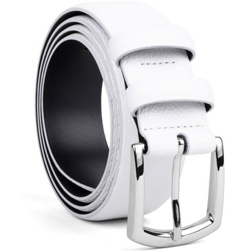 Dalgado Handmade Leather Belt White Pierre