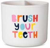 Pillowfort Brush Your Teeth Toothbrush Holder White