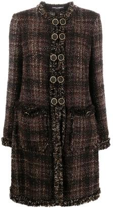 Dolce & Gabbana Button-Front Short Tweed Jacket