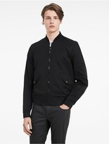 Calvin Klein Platinum Sculpted Cotton Bomber Jacket