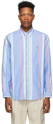 Polo Ralph Lauren Blue Striped Oxford Shirt