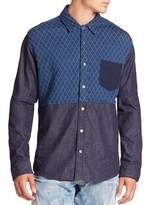 PRPS Men's Two-Tone Quilted Shirt