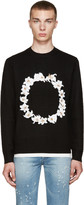 Givenchy Black Floral Embroidered Sweater