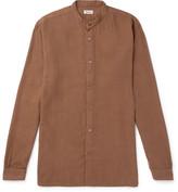 Camoshita Grandad-Collar Cotton-Blend Shirt