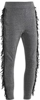 Molo Grey and Black Fringed Annemarie Soft Pants