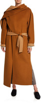 Deveaux New York Double-Faced Belted Wool Coat