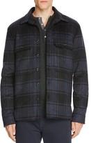 Vince Plaid Military Shirt Jacket
