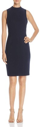 T Tahari Women's Paloma Sleeveless Ponte High Neck Sheath Dress