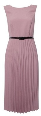 Dorothy Perkins Womens **Luxe Pink Pleated Belted Dress, Pink