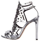 Brian Atwood Metallic Laser Cup Sandals