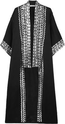 Temperley London Sequin-embellished Satin-crepe Kimono