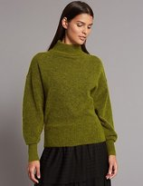 Autograph Wool Blend Turtle Neck Jumper