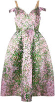 Natasha Zinko floral off-the-shoulder dress - women - Polyester/Nylon - 40