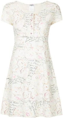Chanel Pre Owned Printed Skater Dress