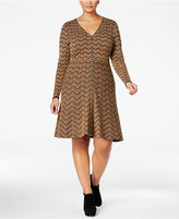 INC International Concepts Plus Size Chevron Sweater Dress, Only at Macy's