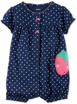 Carter's Dot-Print Strawberry Romper, Baby Girls (0-24 months)