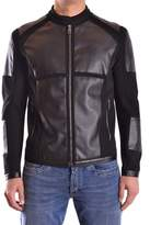 Dirk Bikkembergs Men's Grey/black Viscose Outerwear Jacket.