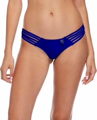 Body Glove Women's Smoothies Amaris Low Rise Cheeky Coverage Swimsuit Bikini Bottom