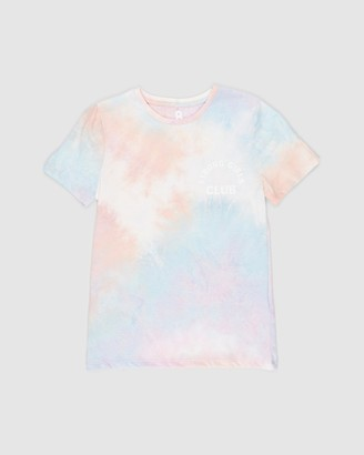 Cotton On Girl's Purple Printed T-Shirts - Stevie SS Embellished Tee - Kids-Teens - Size 2 YRS at The Iconic