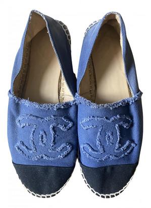 Chanel Blue Cloth Espadrilles