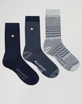 William Hunt 3 Pack Socks