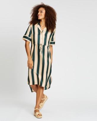 Scotch & Soda Allover Printed Dress In Shiny Quality