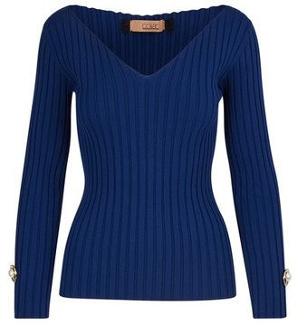 Coliac V-neck jumper with jewel details