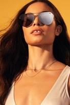 Forever 21 FOREVER 21+ MELT Glossy Aviator Sunglasses