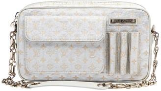 Louis Vuitton Silver Cloth Handbags
