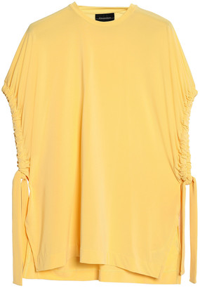 By Malene Birger Draped Gathered Jersey Top