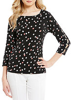 Investments 3/4 Button Sleeve Top