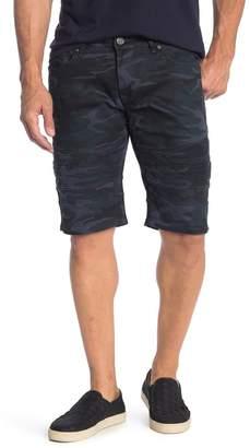 X-Ray XRAY Camo Print Moto Jean Shorts