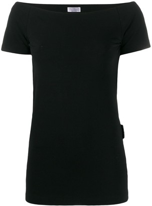 Brunello Cucinelli off-the-shoulder short-sleeved top